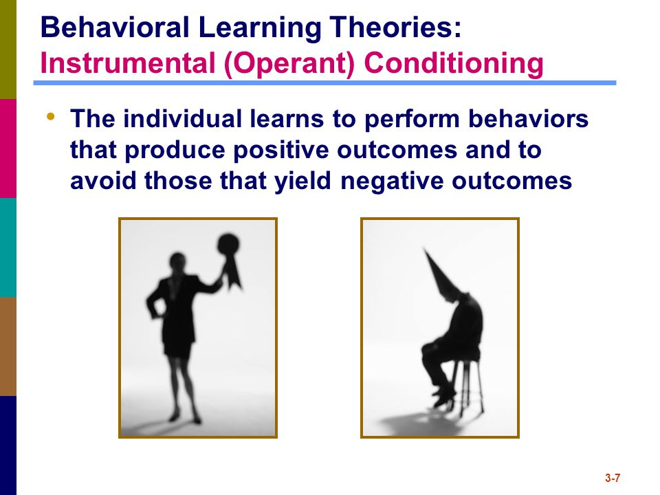 Behavioral Learning Theories: Instrumental (Operant) Conditioning