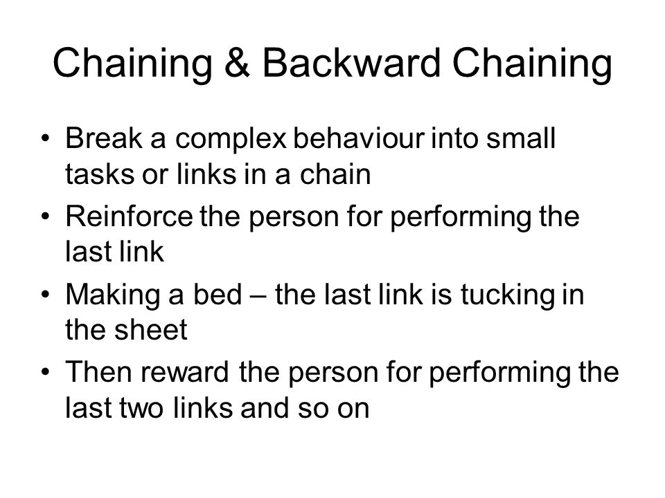 Chaining & Backward Chaining