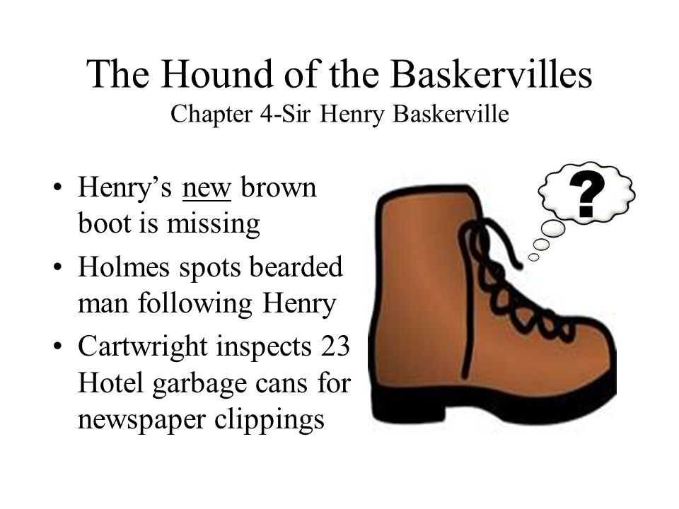 The Hound of the Baskervilles Chapter 4-Sir Henry Baskerville