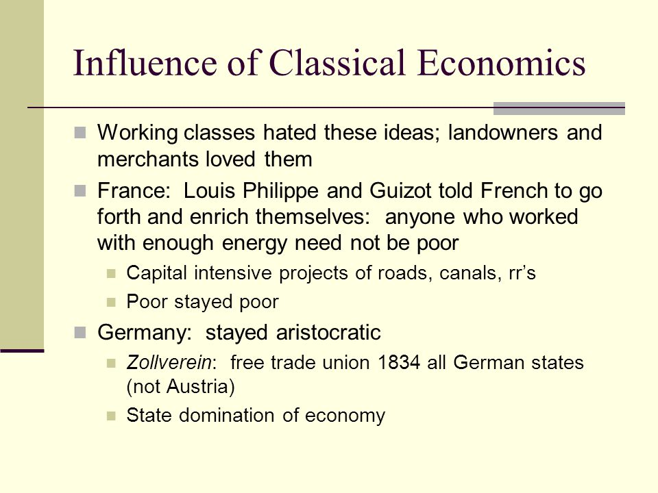 Influence of Classical Economics
