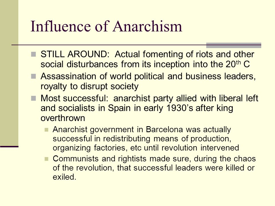 Influence of Anarchism