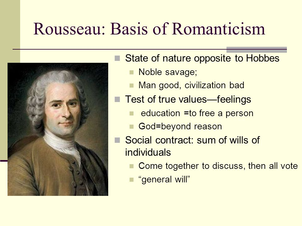 Rousseau: Basis of Romanticism