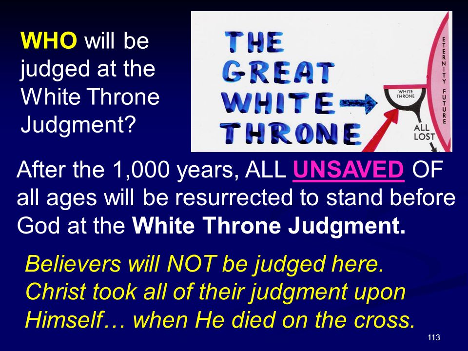 WHO will be judged at the White Throne Judgment