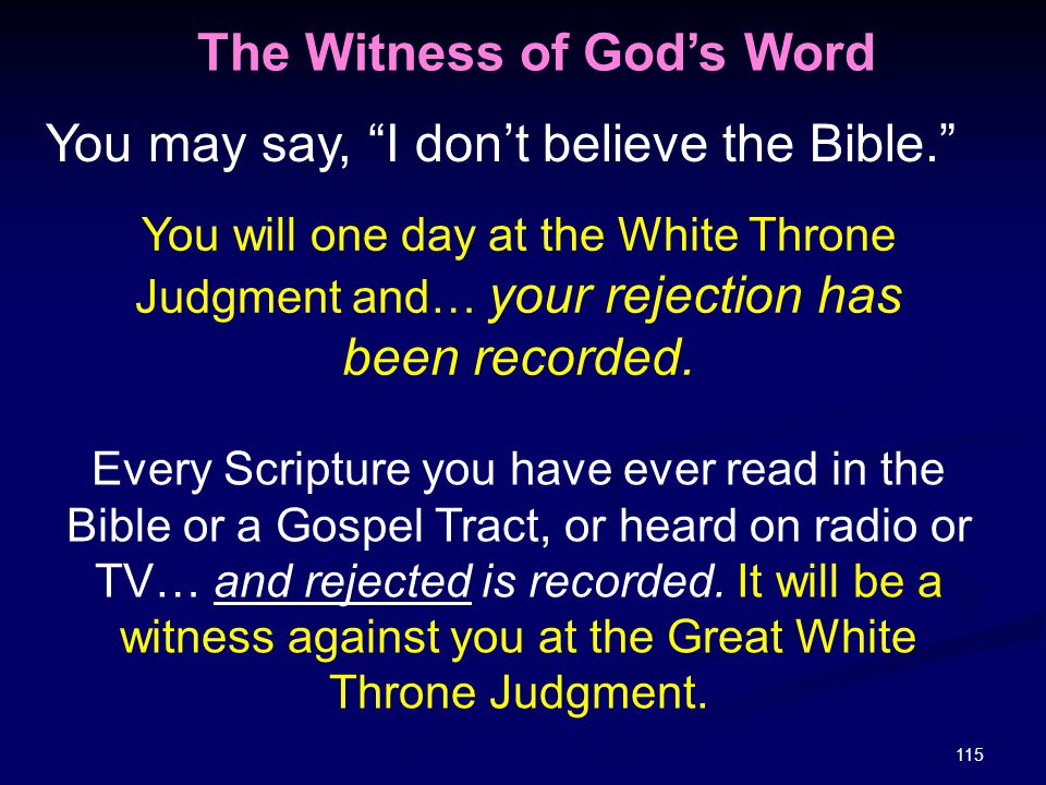 The Witness of God's Word