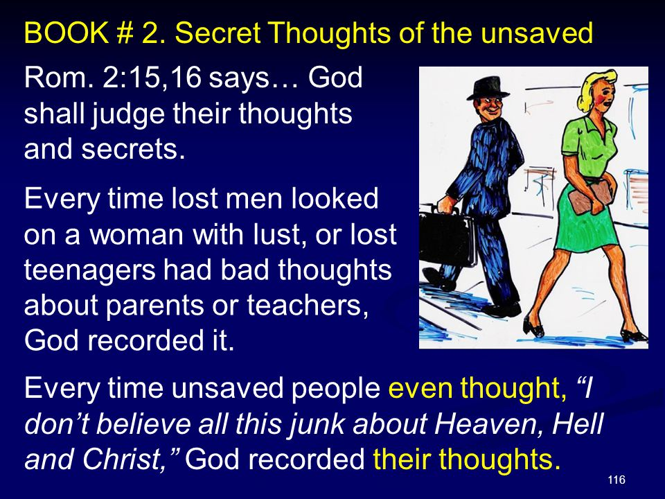 BOOK # 2. Secret Thoughts of the unsaved
