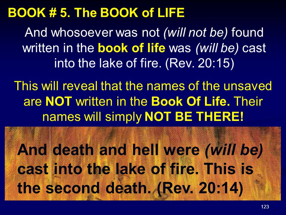 BOOK # 5. The BOOK of LIFE