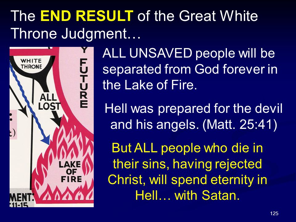 Hell was prepared for the devil and his angels. (Matt. 25:41)