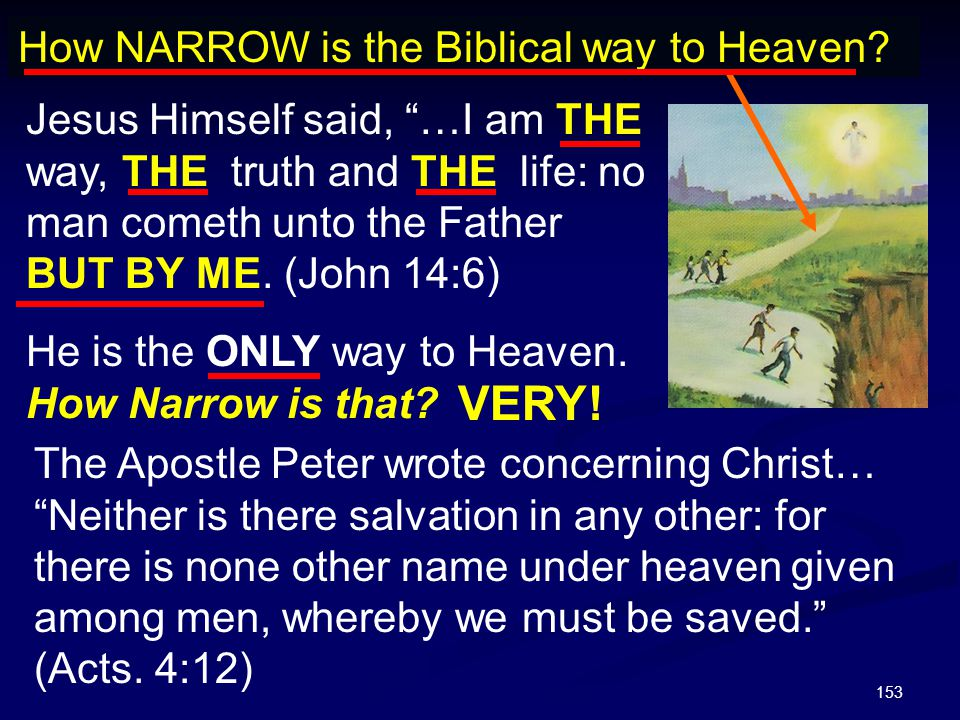 VERY! How NARROW is the Biblical way to Heaven