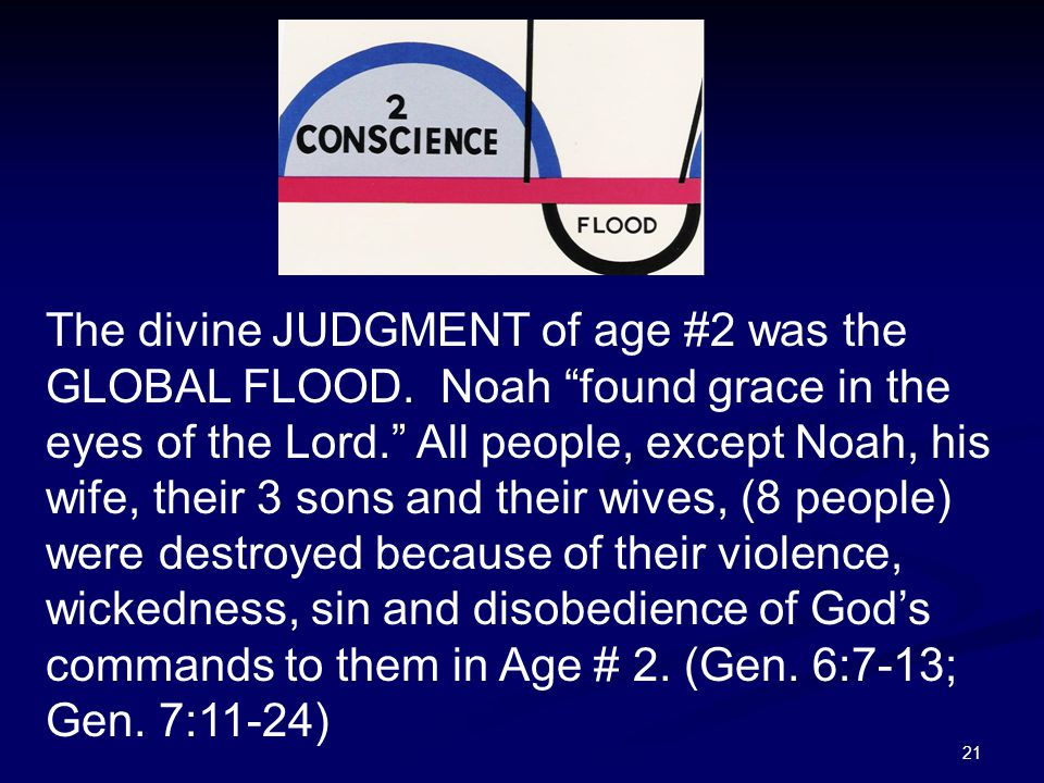 The divine JUDGMENT of age #2 was the GLOBAL FLOOD