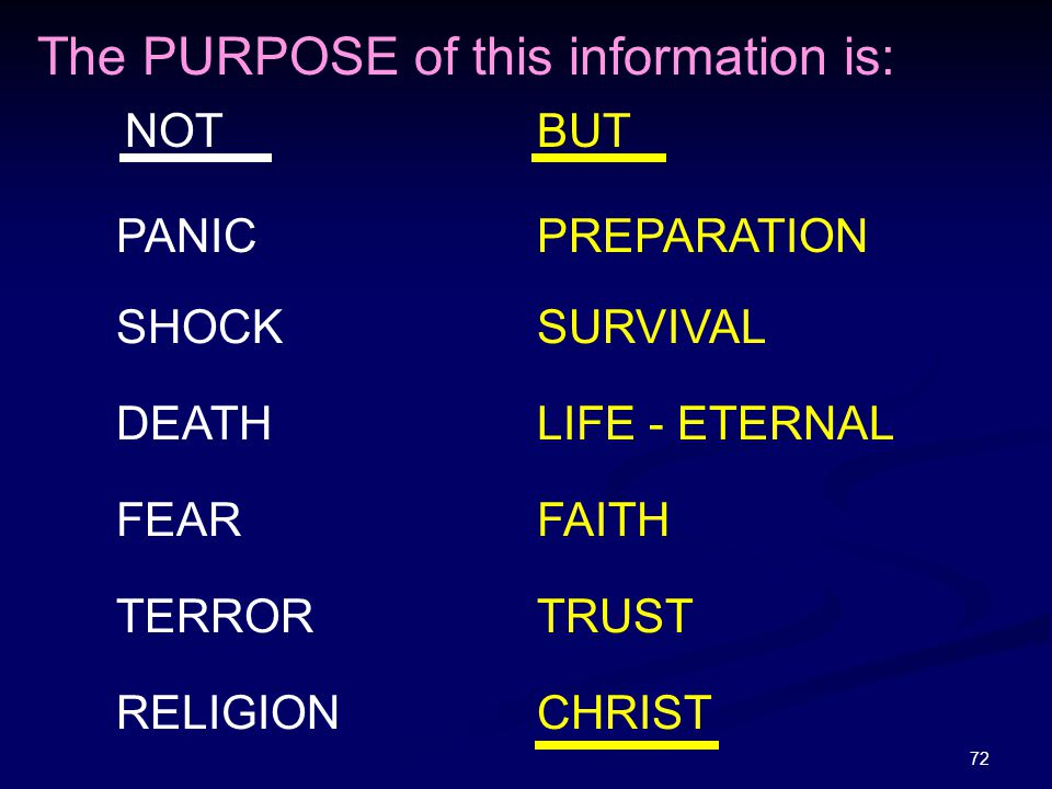 The PURPOSE of this information is: