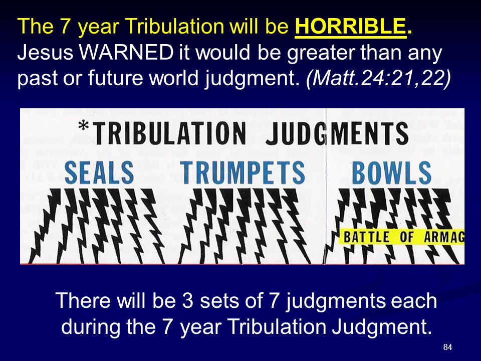 The 7 year Tribulation will be HORRIBLE