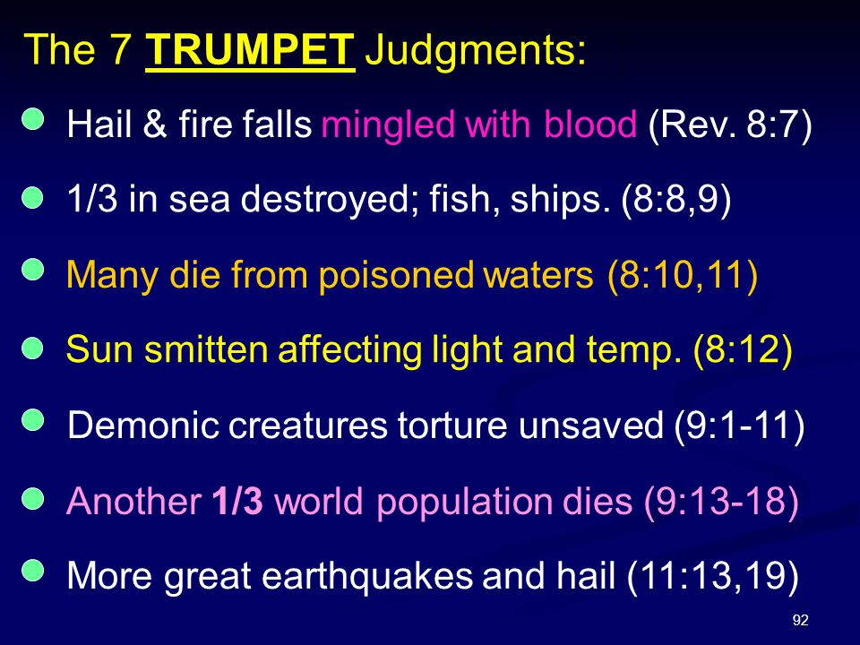 The 7 TRUMPET Judgments: