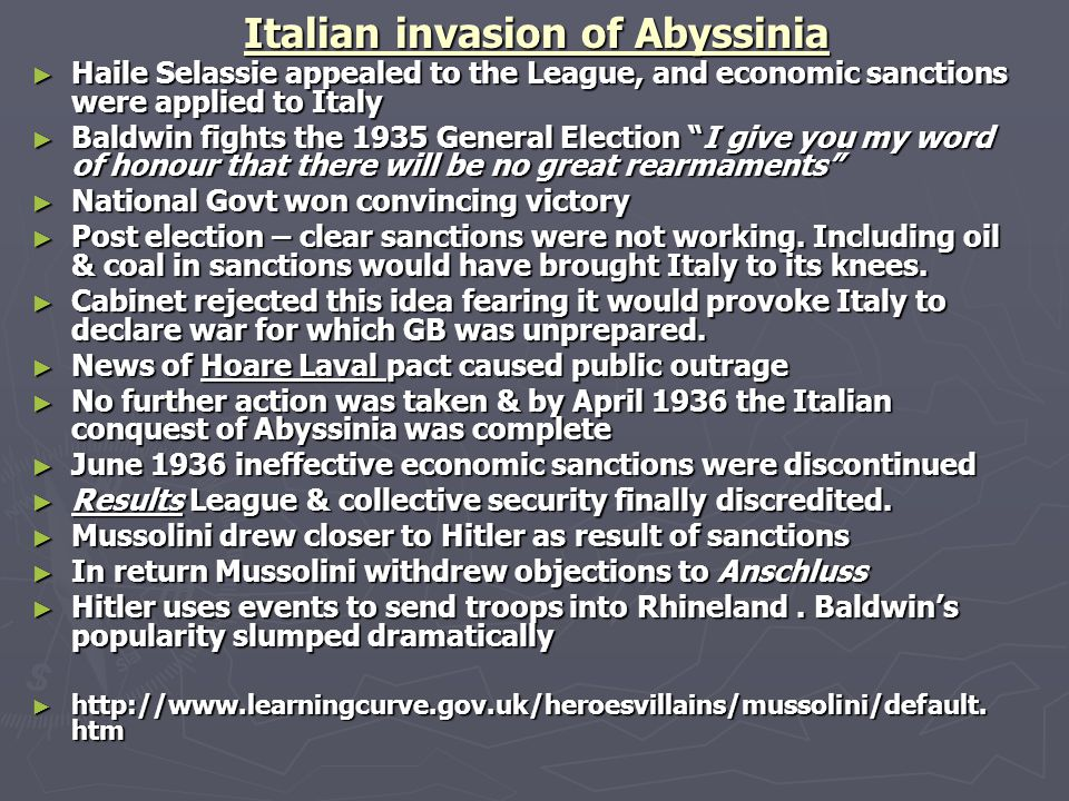 Italian invasion of Abyssinia
