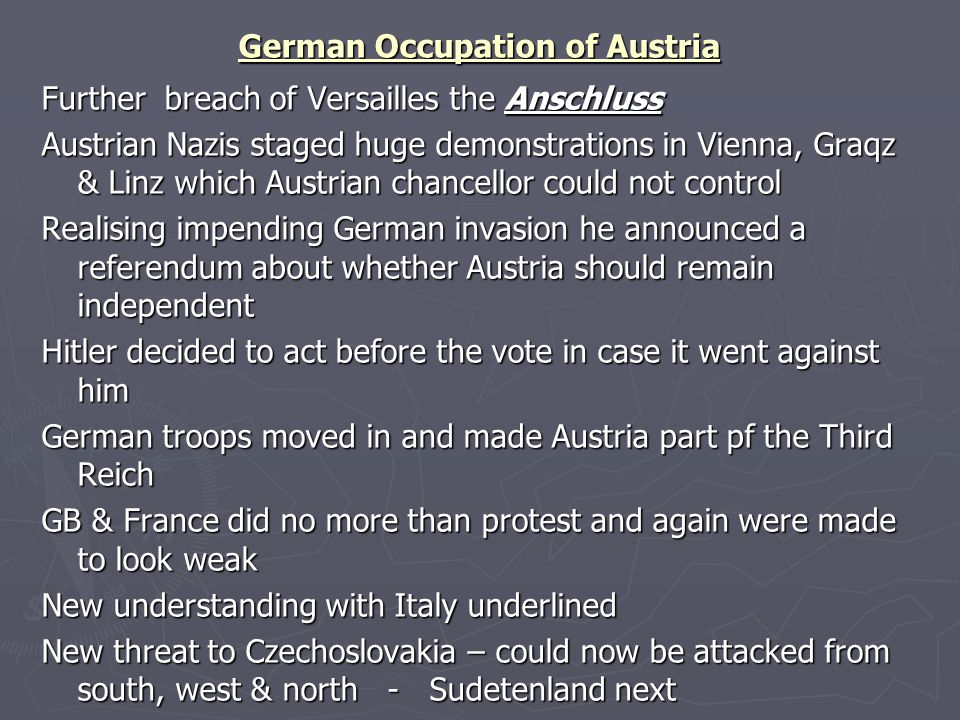 German Occupation of Austria