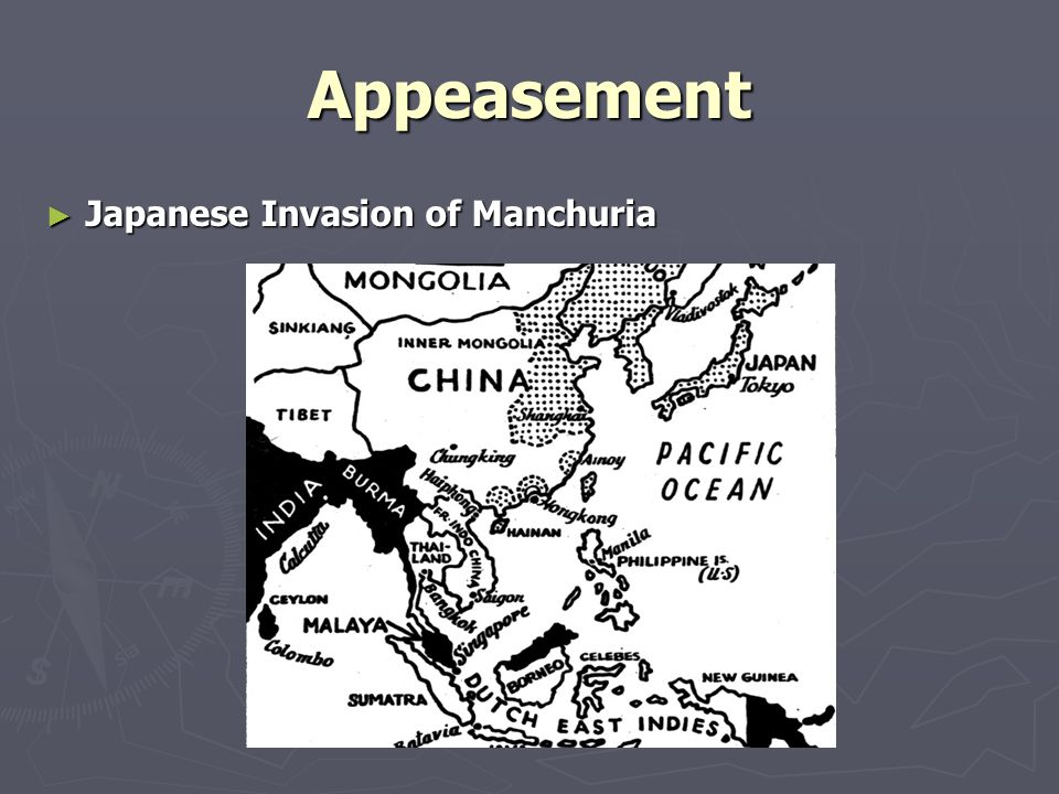 Appeasement Japanese Invasion of Manchuria