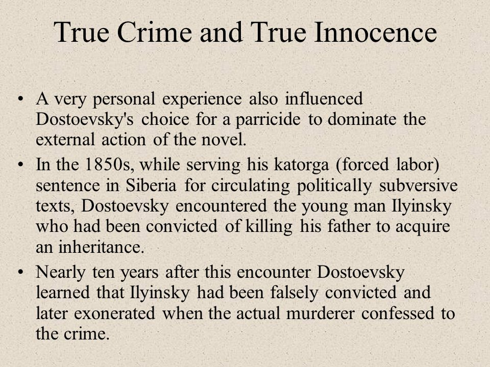 True Crime and True Innocence