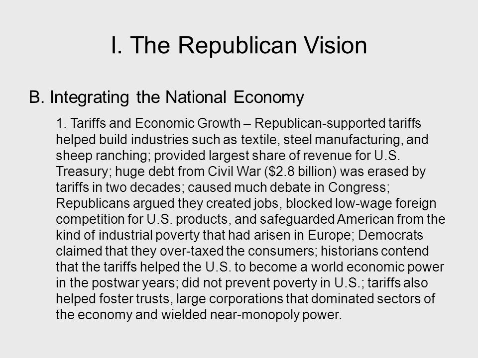 I. The Republican Vision