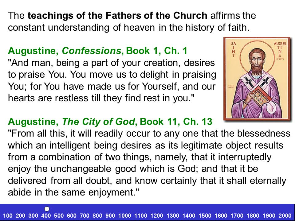 The teachings of the Fathers of the Church affirms the