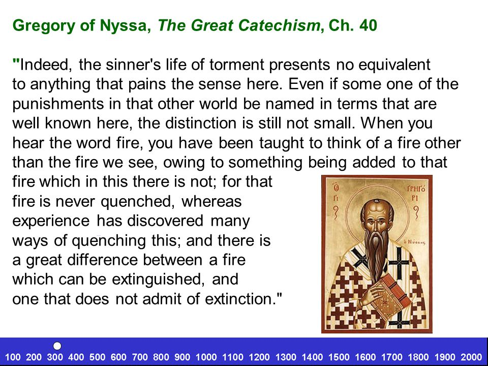 Gregory of Nyssa, The Great Catechism, Ch. 40