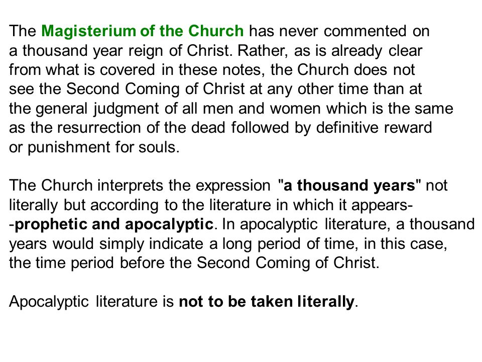 The Magisterium of the Church has never commented on