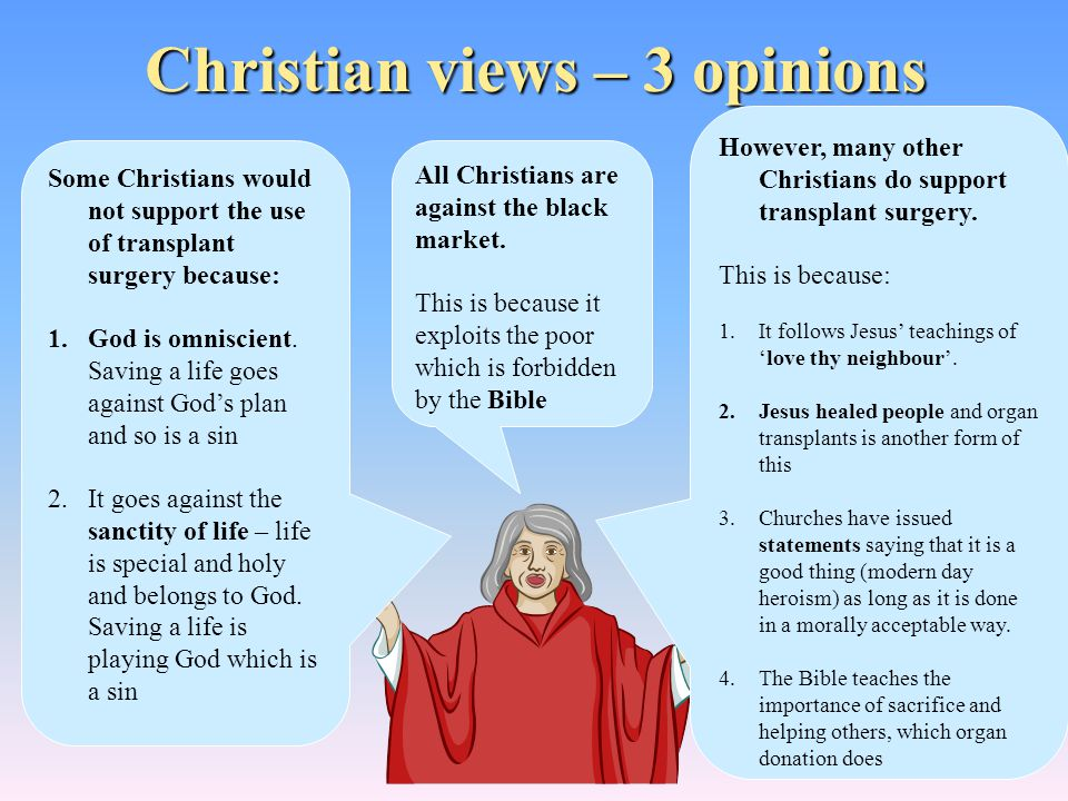Christian views – 3 opinions