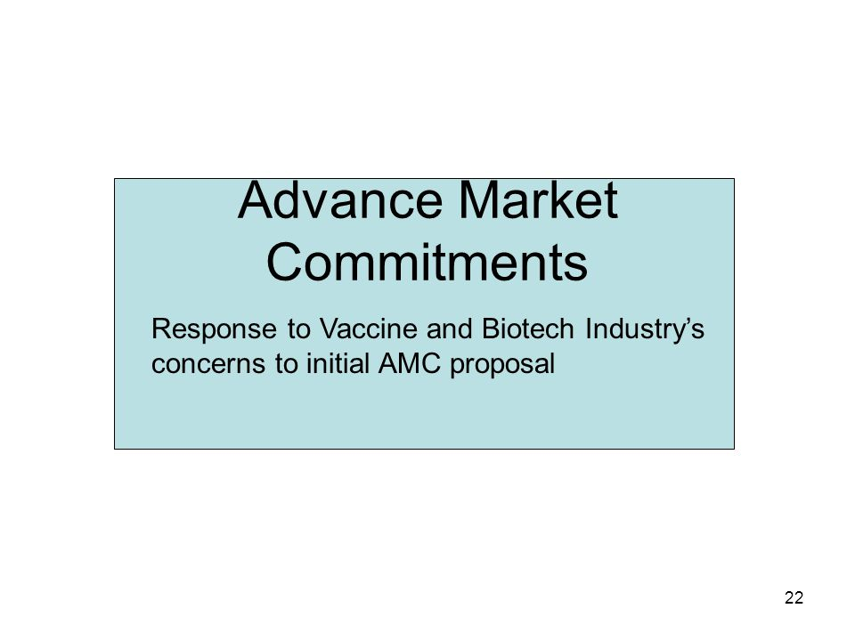 Advance Market Commitments