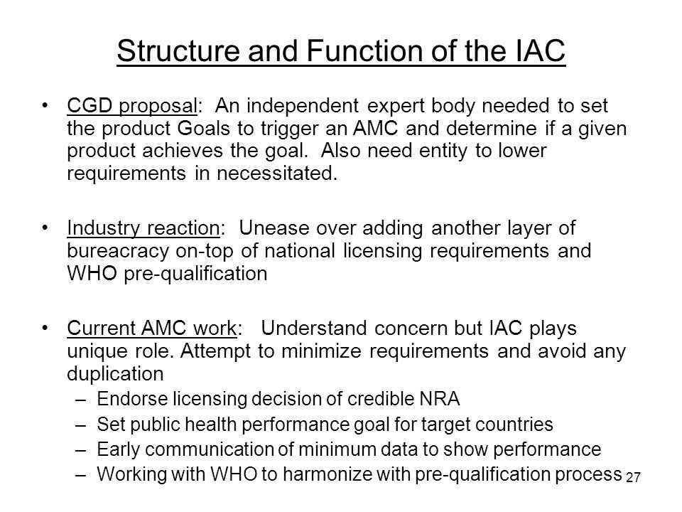 Structure and Function of the IAC