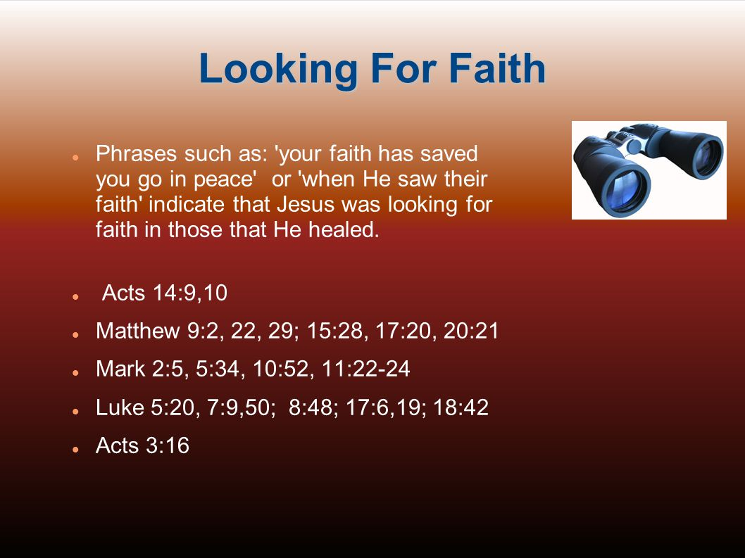 Looking For Faith