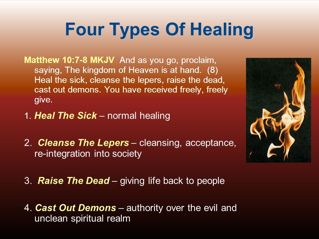 Four Types Of Healing