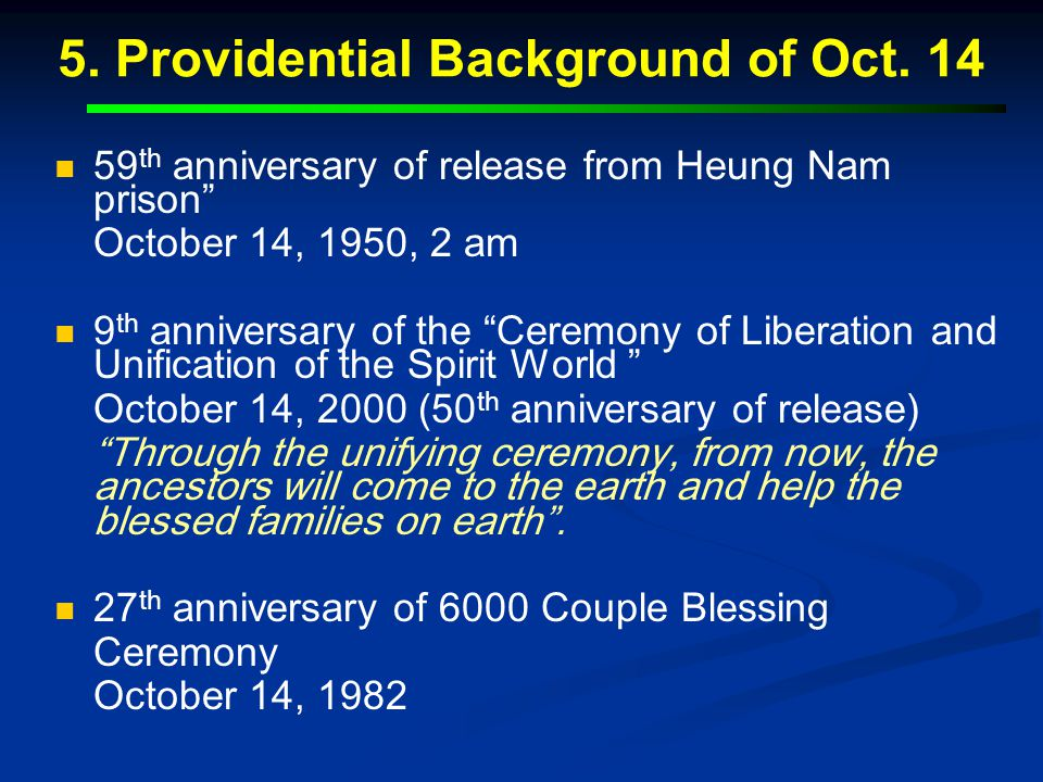 5. Providential Background of Oct. 14