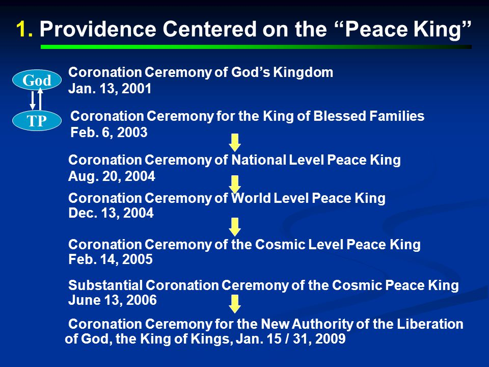 1. Providence Centered on the Peace King