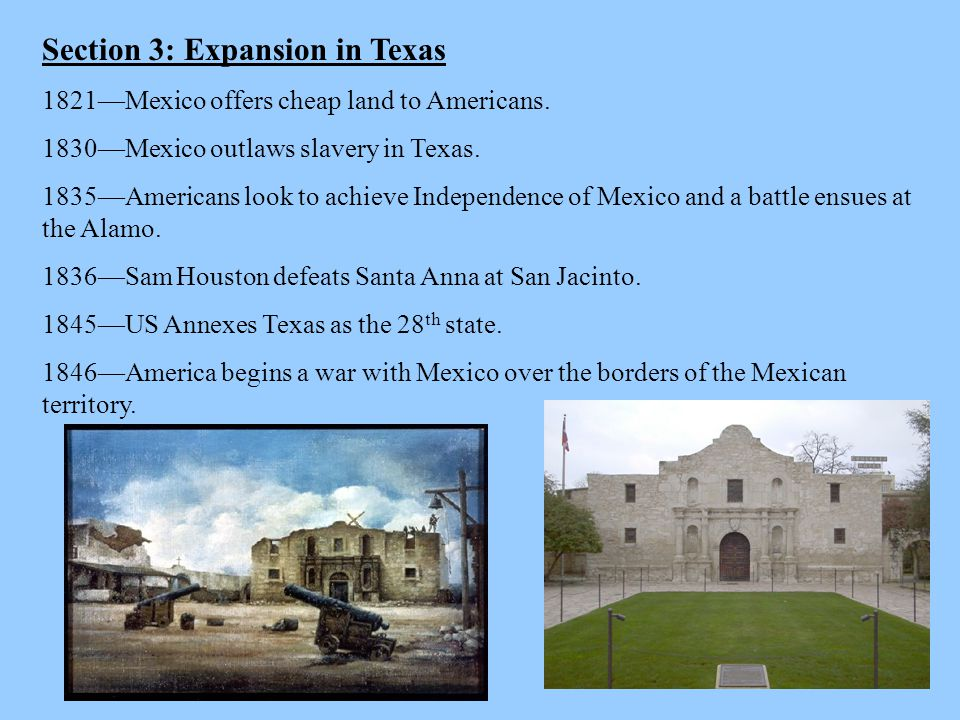Section 3: Expansion in Texas
