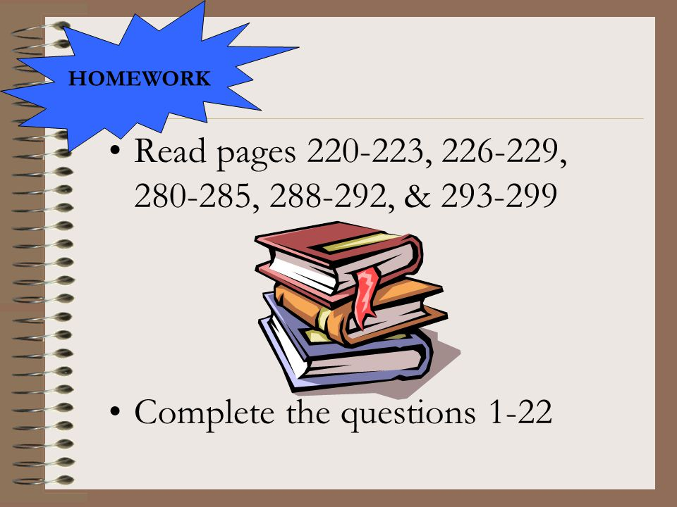 Complete the questions 1-22