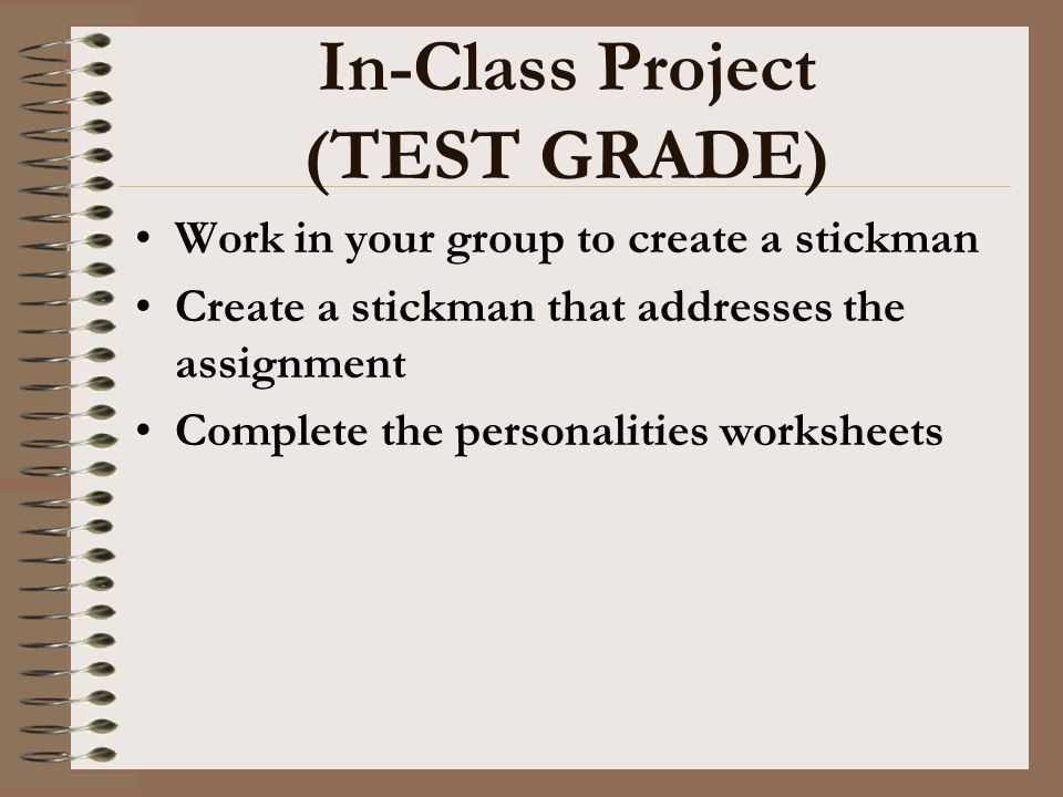 In-Class Project (TEST GRADE)