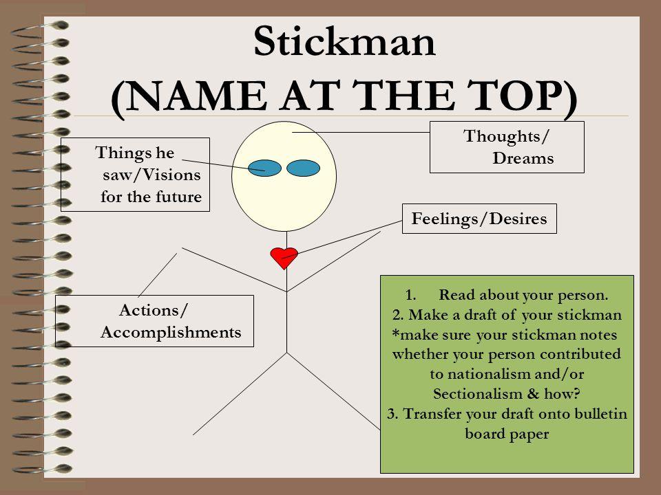 Stickman (NAME AT THE TOP)