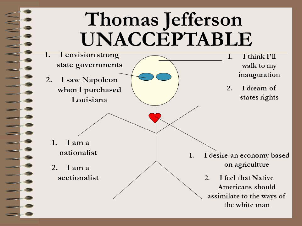 Thomas Jefferson UNACCEPTABLE