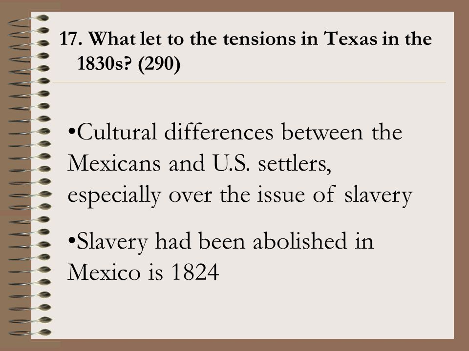 Slavery had been abolished in Mexico is 1824