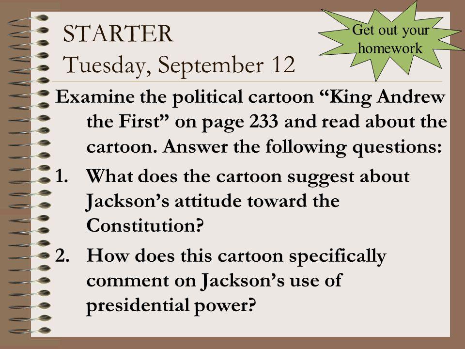 STARTER Tuesday, September 12