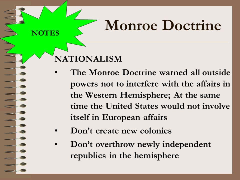Monroe Doctrine NATIONALISM