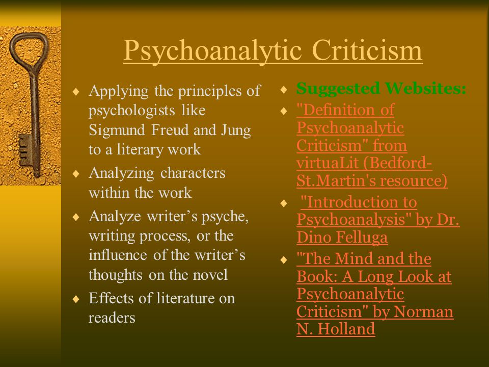 a psychoanalytical criticism of the metamorphosis essay Psychoanalytical criticism the development of psychoanalytic theory (deriving from the work of sigmund freud) has had a major influence on literary criticism in a.