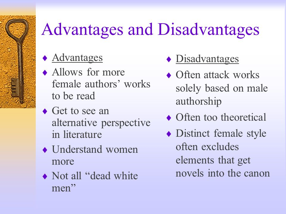 disadvantages of literature Advantages and disadvantages of internet research surveys: evidence from the literature ronald d fricker, jr and matthias schonlau rand e-mail and web surveys have.
