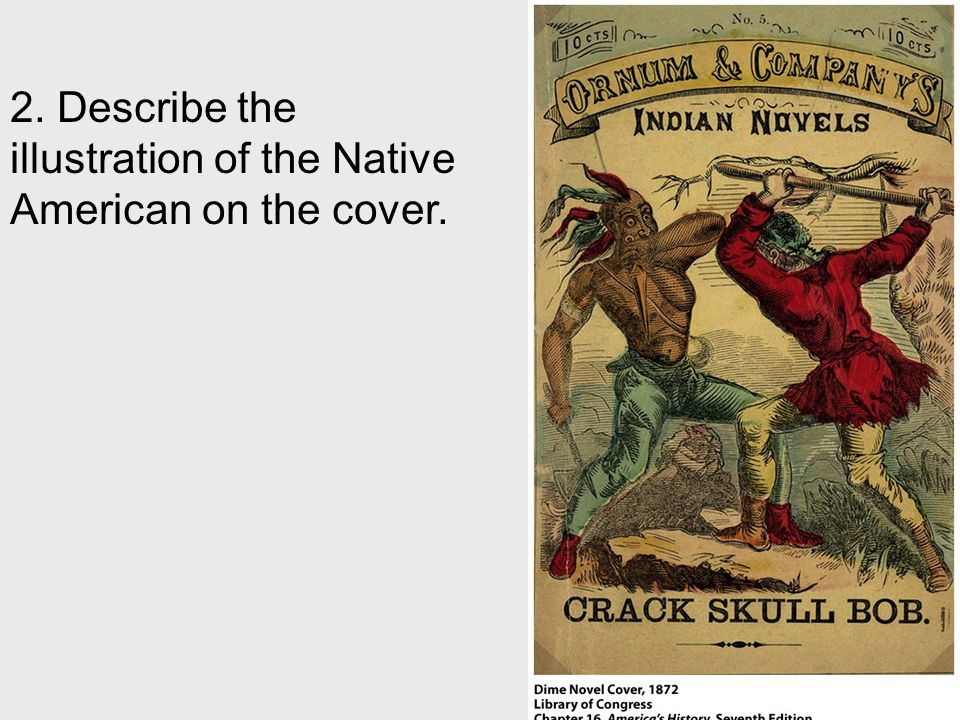 2. Describe the illustration of the Native American on the cover.