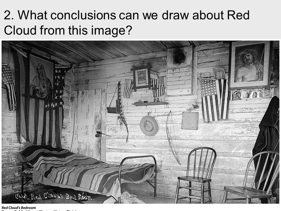 2. What conclusions can we draw about Red Cloud from this image