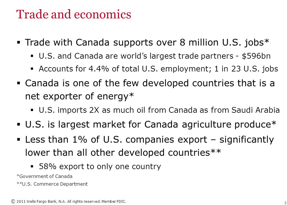 Trade and economics Canada leads all G7 countries in ease of doing business. 2009 World Competitiveness Yearbook.