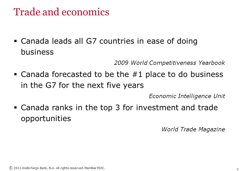 Trade and economics Canada U.S. Growth