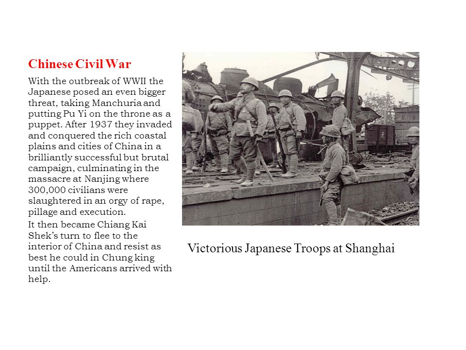 Victorious Japanese Troops at Shanghai