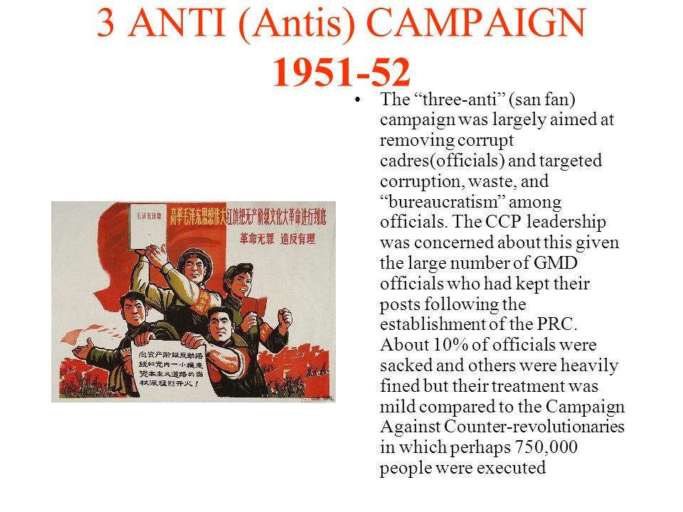 3 ANTI (Antis) CAMPAIGN 1951-52
