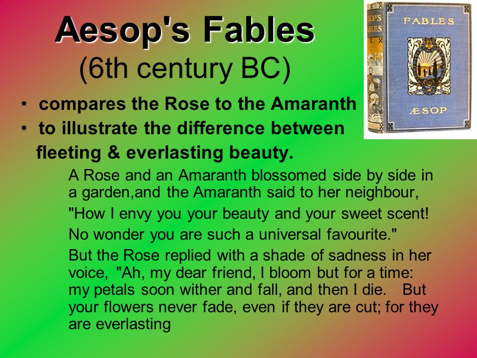 Aesop s Fables (6th century BC)