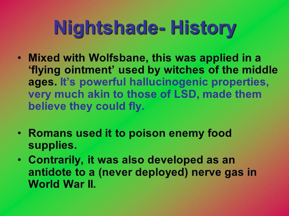 Nightshade- History