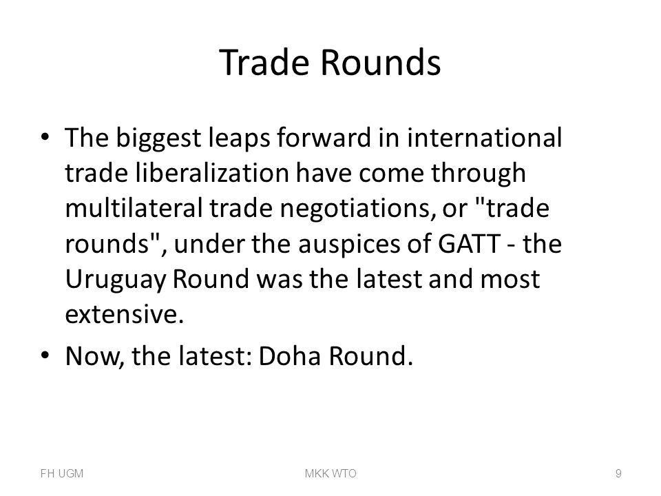 Trade Rounds